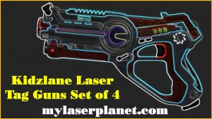 Kidzlane Laser Tag Guns Set of 4 | Lazer Tag Guns for Kids with 4 Team Players | Indoor and Outdoor Laser Tag Play Toy for Kids and Teens Boys and Girls