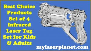 Best Choice Products Set of 4 Infrared Laser Tag Set for Kids & Adults